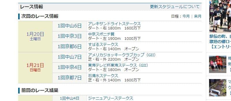スポーツナビ レース情報