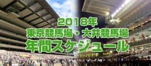 【2018年】競馬の年間スケジュール!東京&大井競馬場版