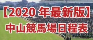 「2020年度版」競馬場中山編日程!!絶対に押さえるべきレース3選