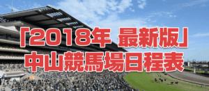 「2018年度版」競馬場中山編日程!!絶対に押さえるべきレース3選