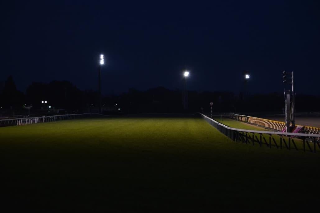 競馬場 無人