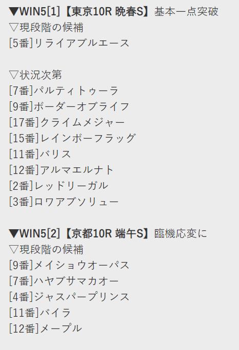 WIN5の予想コラム