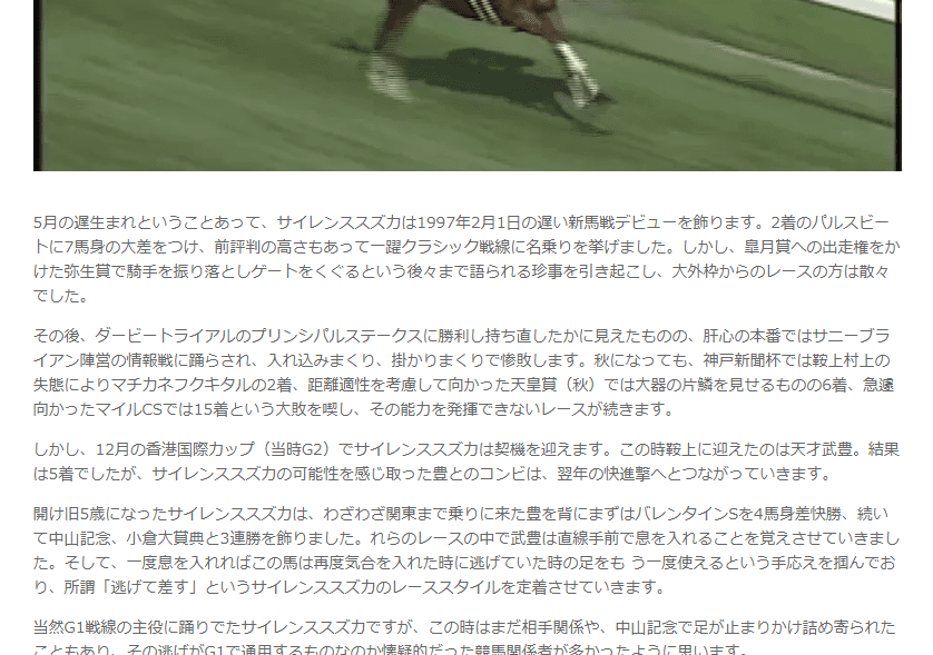 競馬動画 回顧録