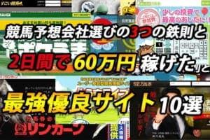 競馬予想サイトを使って2日間で60万円稼げたオススメの会社10選